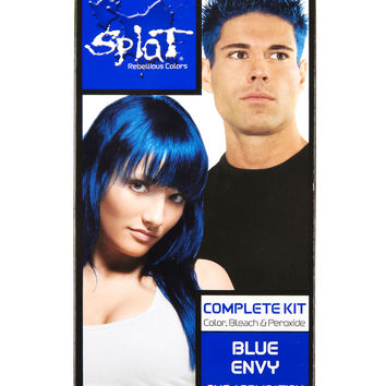 Splat Semi-Permanent Blue Envy Hair Dye Kit