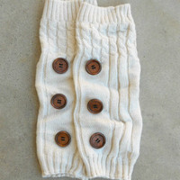 Ivory Hayseed Knitted Boot Cuffs