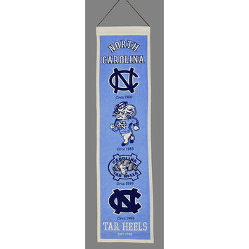 North Carolina Tar Heels NCAA Heritage Banner (8x32)
