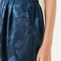 Silence + Noise Irina Pleated Drop Crotch Floral Pant   Urban Outfitters