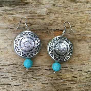 Simple Southerwestern Style Earrings