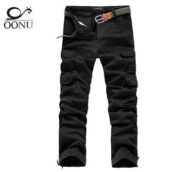 Free Shipping 30-40# Mens joggers casual Pants military army cargo combat Loose work pants Outdoors Zipper Casual Dress size 10D