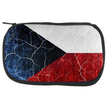 PEAPGQ9 Czech Republic Flag Distressed Grunge Travel Bag