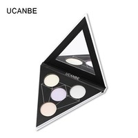 UCANBE Makeup Triangle Glitter Eyeshadow Palette Shimmer Eye Shadow Highlighter