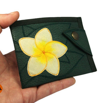 Flower Ladies Vegan Leather Wallet Coin Pocket, Vegan Leather Wallet for Woman - UNUSUAL Wallet