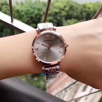 DCCK A009 Armani Emporio Full star waterproof steel band watch female watch with diamonds