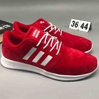 Adidas pig leather comfort shock absorbing sneakers F-CSXY red