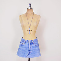 Levis Skirt Levi's Skirt Levis 501 Levis Jean Skirt Denim Skirt Mini Skirt Cutoff Skirt Cut Off Skirt 90s Skirt 90s Grunge Skirt 28 S Small