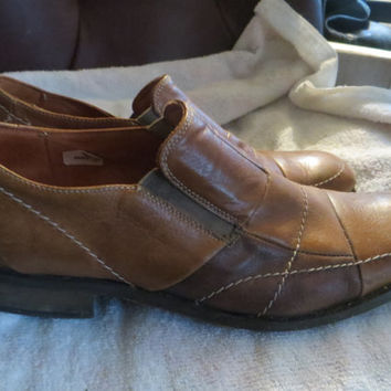 vintage Kenneth Cole Reaction mens patchwork leather loafers size    11   1/2