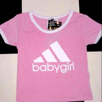 SWEET LORD O'MIGHTY! OG BABYGIRL RINGER TEE IN PINK