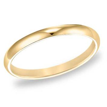 Ladies' 2.0mm Comfort Fit Wedding Band in 10K Gold