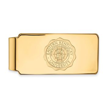 NCAA 14k Gold Plated Silver Eastern Kentucky U Crest Money Clip