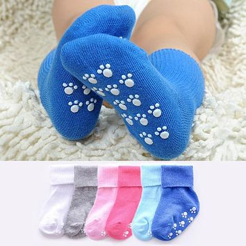 Cotton Baby Socks Candy Color Anti Slip Socks Newborn Toddler Baby Girl Boy Socks For 1-3 Years kids New born Baby Girl Sock