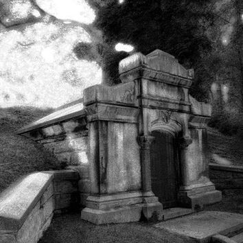 Black and White Photography - The Vampire Crypt Gothic Home Decor