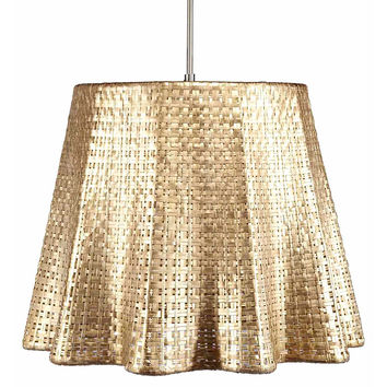 Seline Drapery Pendant Light, Metallic, Pendants