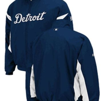 ESBON MLB Detroit Tigers Kids Authentic Collection Home Dugout Jacket