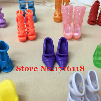 Random 10 Barbie Doll Shoes add to your collection Sandals High Heels Fashion Hot Sexy