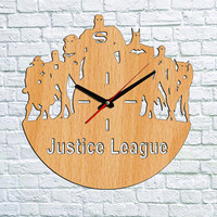 Justice League Wall clock Wood clock Ideas for kids gift Justice League Gift Ideas Valentines gifts Children clock