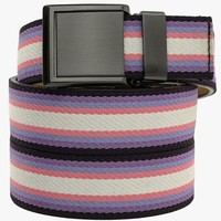 Purple Pink and White Canvas Belt
