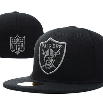 Oakland Raiders New Era NFL Cap Americana Ultimate 59FIFTY Black