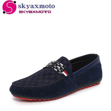 Men Leather Walking Shoes Loafers Breathable Brand Outdoor Sport Hot A-8338