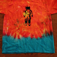 IMPERFECT Brand New Deja Entendu Tie Dyed Screen Printed T-Shirt READ DESCRIPTION
