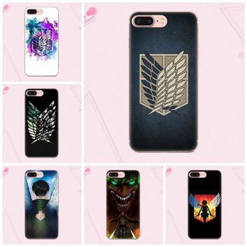 Cool Attack on Titan Anime  Logo Soft Case For HTC Desire 530 626 628 630 816 820 One A9 M7 M8 M9 M10 E9 Plus U11 For Moto G G2 G3 AT_90_11