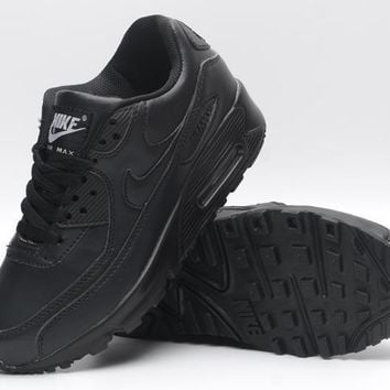 NIKE AIR MAX 90 fashion ladies men running sports shoes sneakers F-PS-XSDZBSH All black