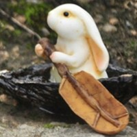 Rabbit Rowing Boat - My Fairy Gardens
