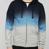Charles & 1/2 Ombre Zip-Up Pullover Hoodie Sweatshirt - Urban Outfitters