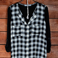 Alpine Lady Plaid Blouse