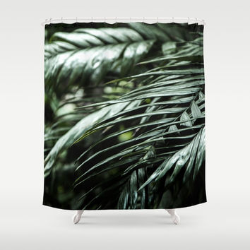 Tropical leaves 03 Shower Curtain by VanessaGF