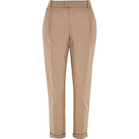 River Island Womens Beige casual rolled up chino pants