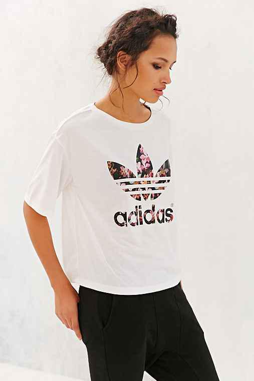 b120d48a adidas Orchid Cropped Tee- White from Urban Outfitters