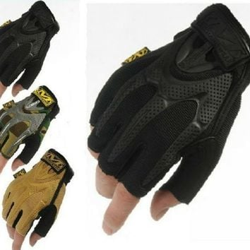 NEW  Outdoor Mechanix Wear M-Pact Camping Military Tactical Hunting Motorcycle Cycling Half Finger Gloves 4 color