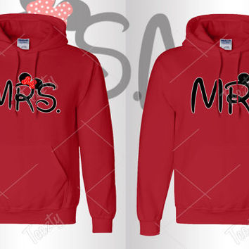 Mr Mrs Mickey Minnie Hoodie Hoodies Matching Hoodie Hoodies Couple Hoodie Hoodies Sweatshirts T-shirts Couple Hoodie Couple Hoodies love