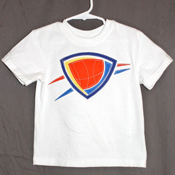 OKC Oklahoma City Thunder Logo Boys Shirt
