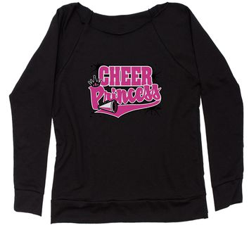 Cheer Princess Slouchy Off Shoulder Oversized Sweatshirt