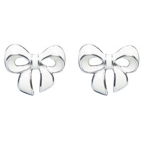 Colored Bow Button Earring   Wet Seal