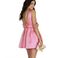 Sale-pink Bow Love Skater Dress