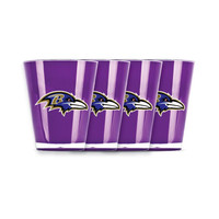 4 piece shot glass set - Baltimore Ravens