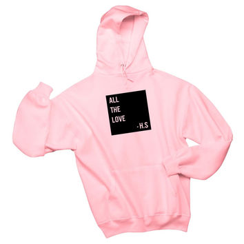 "Harry Styles ""All The Love - H.S."" Box Unisex Adult Hoodie Sweatshirt"