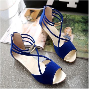 Women Sandals Wedge Shoes Women Open Toe High Heels Sandals Ladies Gladiator Zip Summer Shoes Women Heels Sandals
