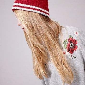 Sky hat - KNITTED HATS - WOMAN | Stradivarius United Kingdom