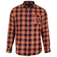 Chicago Bears Wordmark Long Sleeve Flannel Shirt
