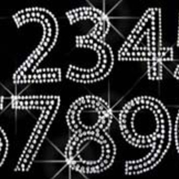 Rhinestone Number Transfers (0-9) ANY NUMBER
