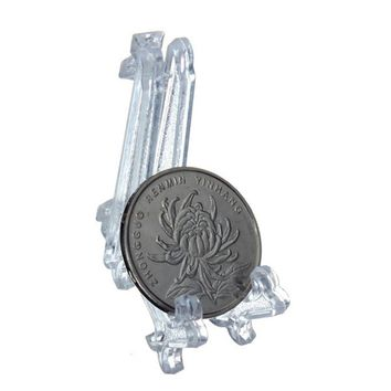 5pcs/lot Collectibles Mini Clear Plastice Coin Medal Gem Badge Golf Post Card Easels Coin Display Stand Display Plate Holders