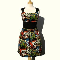 Riding Shotgun Horror Monsters Dress :: VampireFreaks Store :: Gothic Clothing, Cyber-goth, punk, metal, alternative, rave, freak fashions