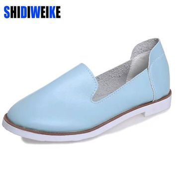 SHIDIWEIKE Spring New Street Korea Little White Shoes Fashion Wind Flat Shoes Flat Wom