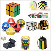 Magic Cube Collection Twist Brain Cube Puzzle Toys Autism ADHD Focus Toy Fidget Toys Colorful Cool Shape Puzzle Speed Cube